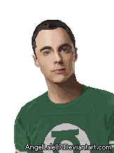 Sheldon cooper pixel by AngelLale87