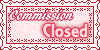 Commission Closed Stamp