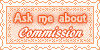 Ask Me About Commish Stamp