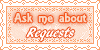Ask Me About Requests Stamp