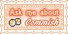 Ask Me About Art Point Commish Stamp