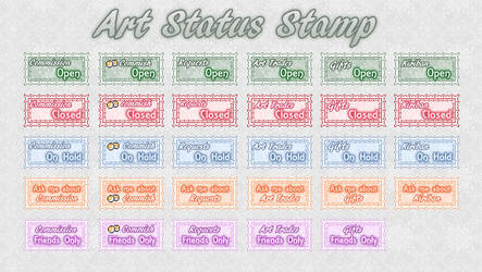 Art Status Stamps by AngelLale87