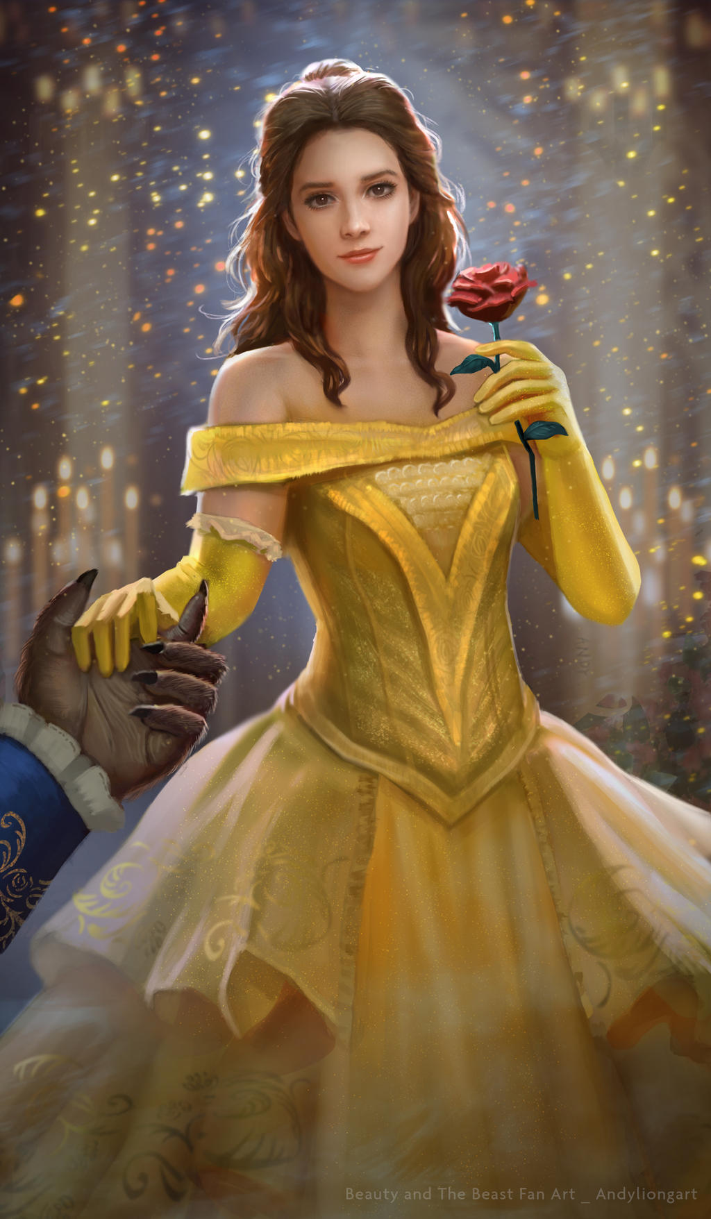 Belle Fan art_Beauty and the Beast 2017 by andyliongart