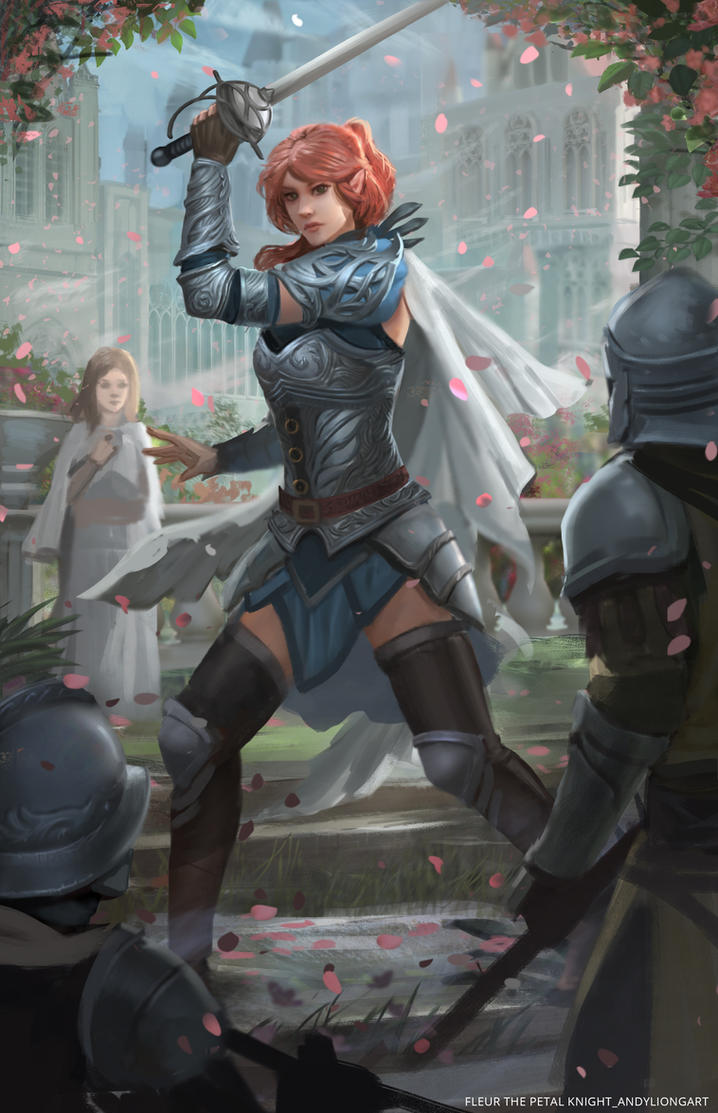 Fleur_The Petal knight by andyliongart