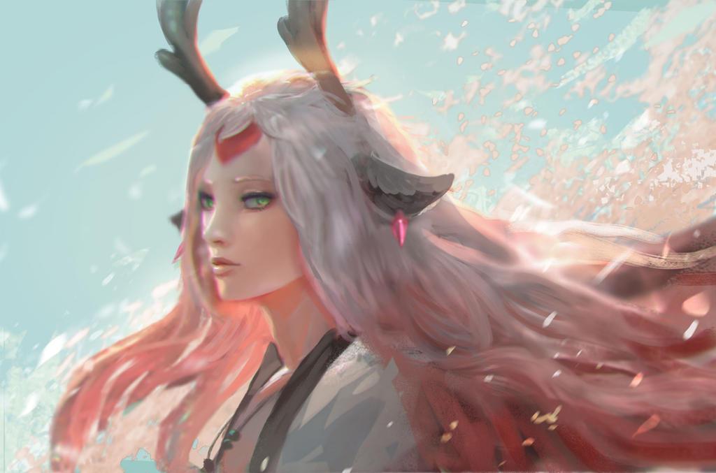 Onmyoji Fanart Contest_Shishio by andyliongart