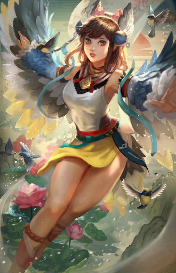 Onmyoji Fanart Contest_Hana_Kacho Fugetsu by andyliongart