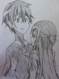 Kirito and Asuna from episode 9 by Drawmaster001