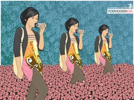 Post Modern Girl WP by bintangbiru