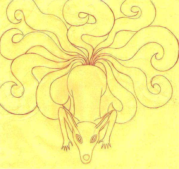 kyuubi the nine tailed demon by skywolfangel