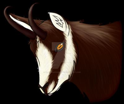 Chamois portrait by HakuiWahyaWolfy