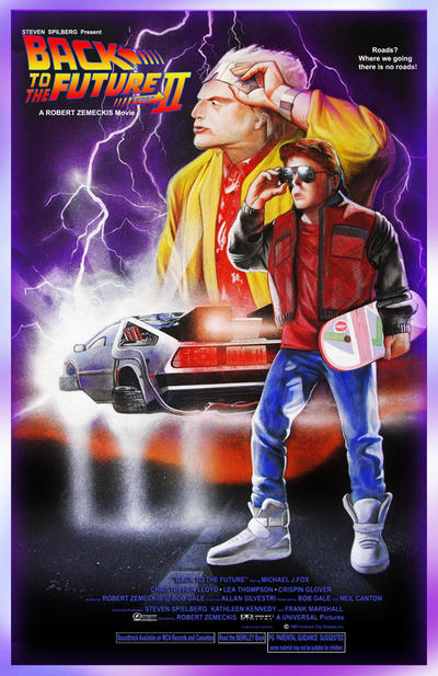 back to the future 2 poster by antonpaintings on deviantart. Black Bedroom Furniture Sets. Home Design Ideas