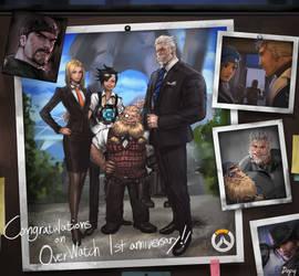 Overwatch 1st anniversary fan art.