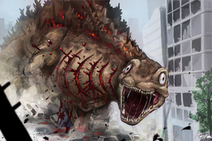 Shin Godzilla The second form by Inosuke-0101
