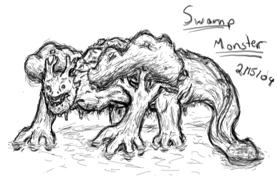 swamp monster coloring pages | swamp monster no color by 94creator on deviantART