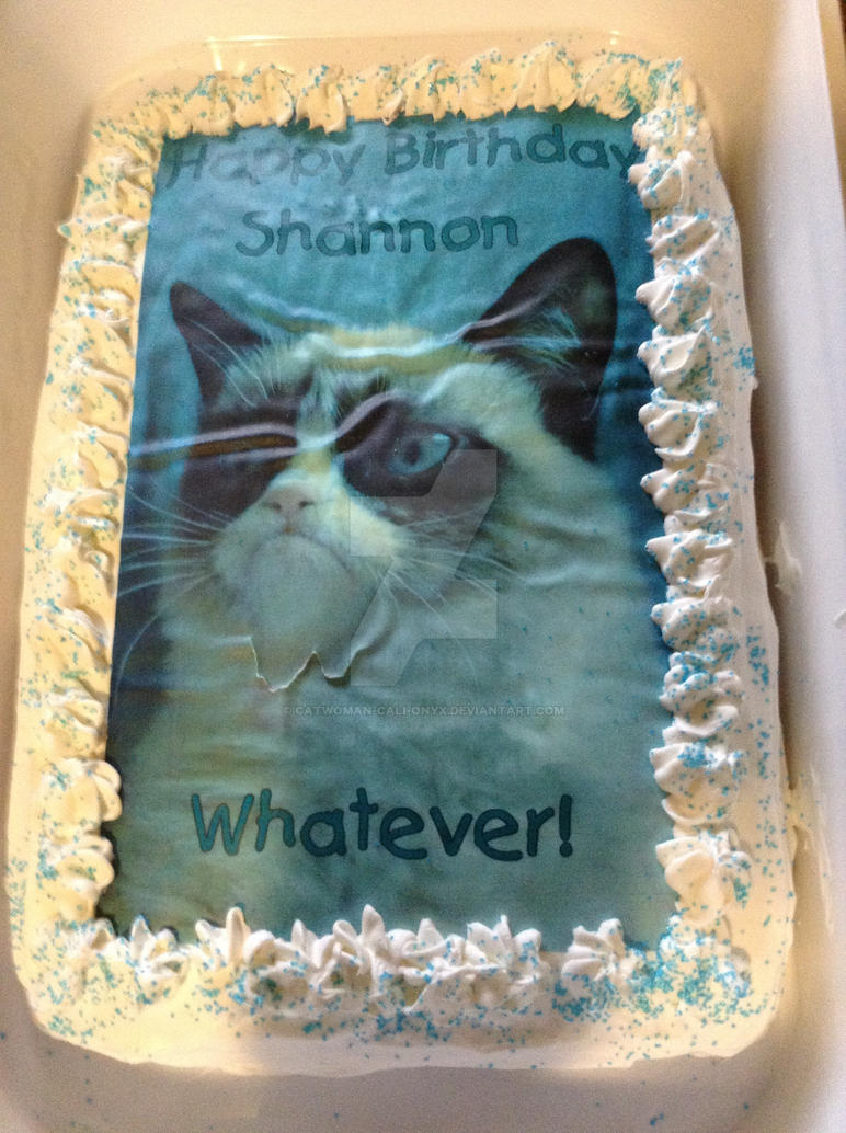 My Grumpy Cat Birthday Cake by CatWomancalionyx on DeviantArt