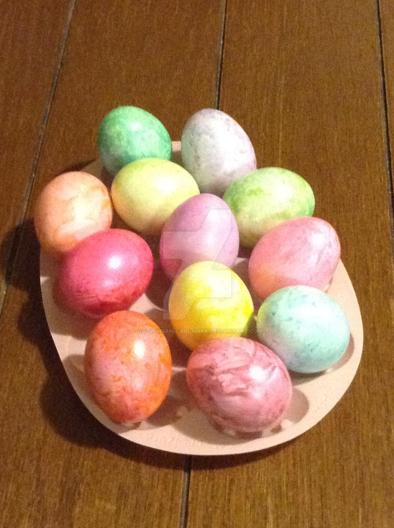 Finished Easter Eggs!! :D by CatWoman-cali-onyx