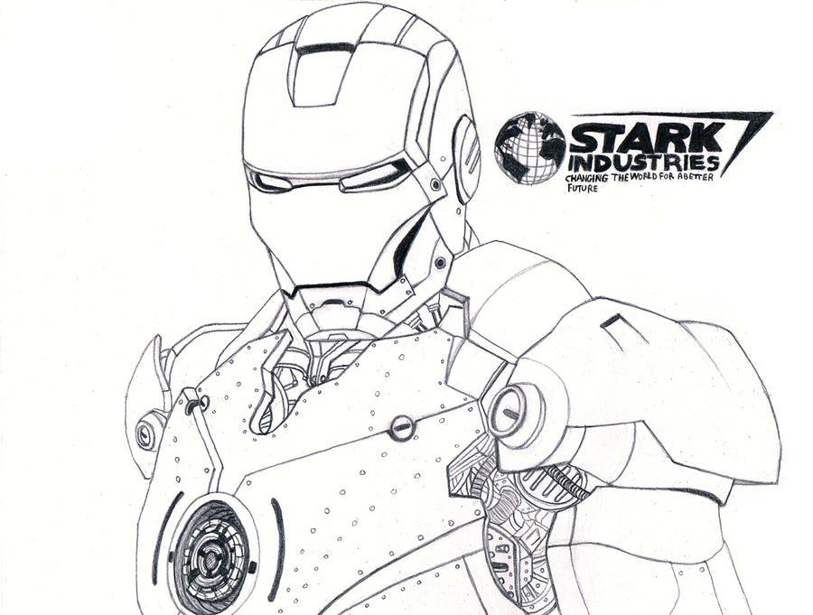 Iron Man sketch Pencil by Iron Man Pencil Drawings