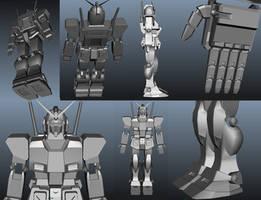 Gundam RX 78 -2 Base mesh by Vinzarts