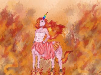 Fire Unicorn by mrForg