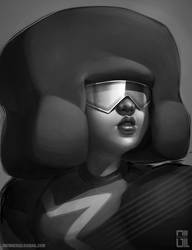 Black and White - Garnet by raynnerGIL