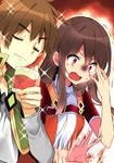 Kazuma hablando cosas de Megumin