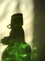 green glass shadow by pexa