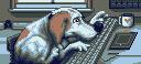 The Artist's Dog by pixeldogmeat