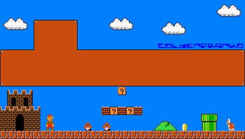 Super Mario Bros PSP Wallpaper By GoldenfrankO