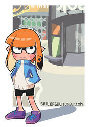 Inkling Girl in Inkopolis Square