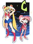 Sailor Moon and Chibi