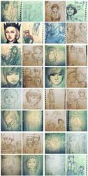 Sketch Collection 2011-2013 by merumeruchan