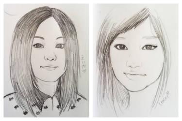 Portrait Practice by merumeruchan