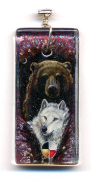 Bear Wolf Totem Pendant by ssantara