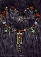 Fox and the grapes necklace by ssantara