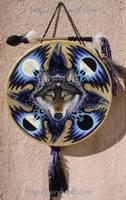 Wolf Raven Shield Drum by ssantara