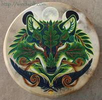 Green Wolf Drum