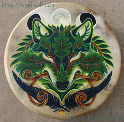 Green Wolf Drum by ssantara
