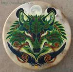 Green Wolf Drum by ssantara