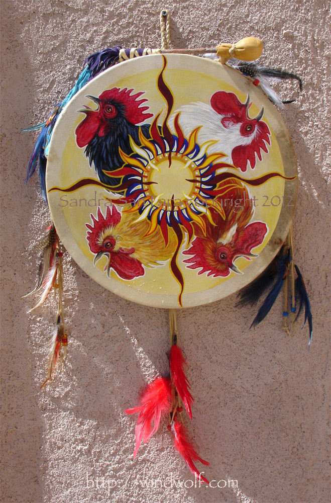 Happy Morning Rooster Drum by ssantara