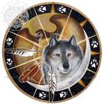 Wolf Hawk Spirit Shield