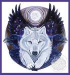 Angel Wolf Raven Shield