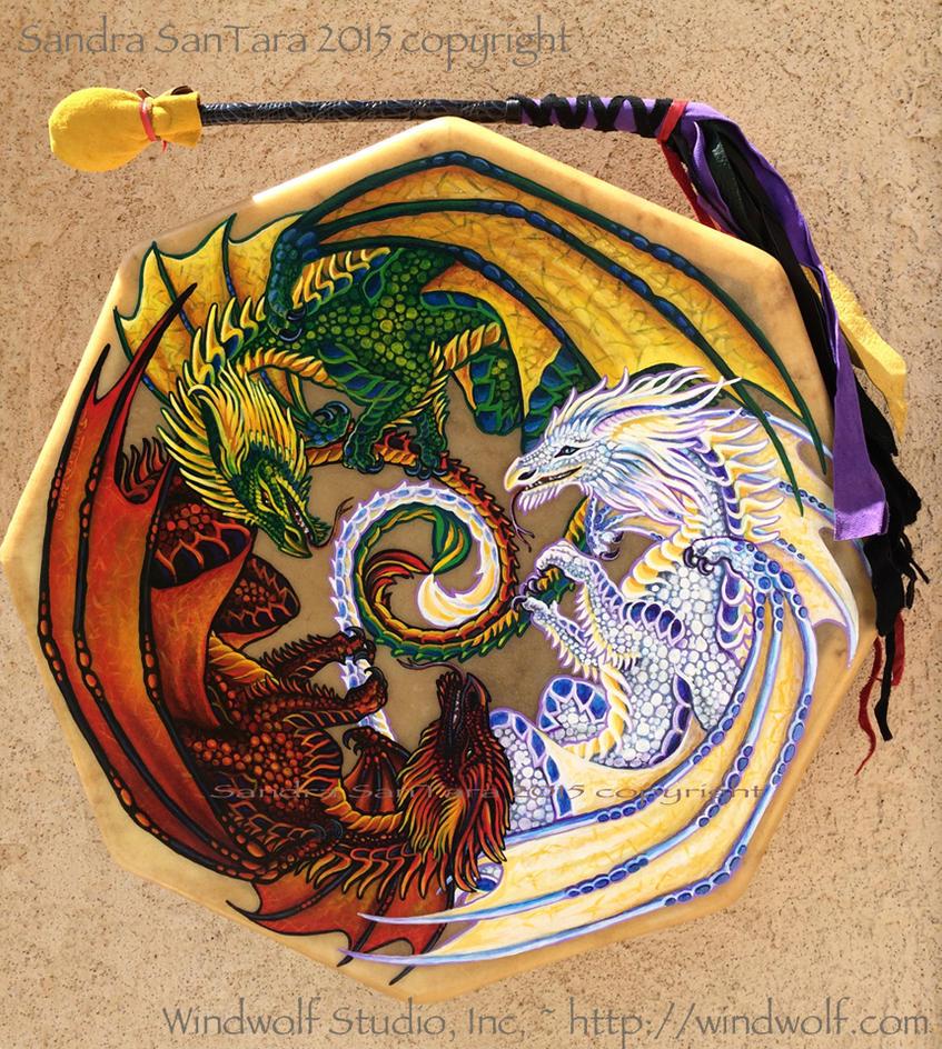 Dragon Dance Drum by ssantara