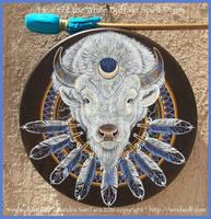 Heart of the White Buffalo Spirit Drum by ssantara