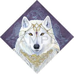 Angel White Wolf Bandana