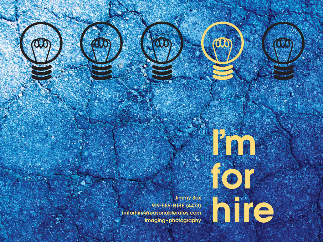 I'm For Hire Promo Poster by MyLaundryStinks