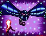 Willsay flies up to Clock-Ra by Enerdyte