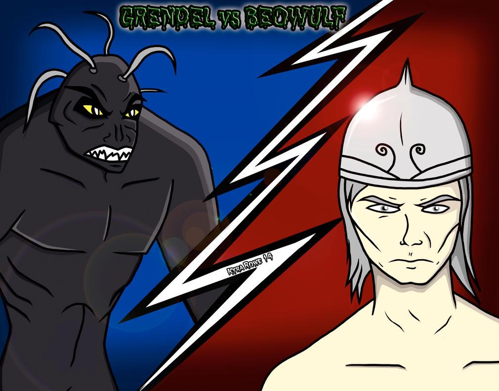 Grendel Vs Beowulf by Enerdyte