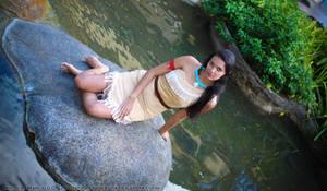 Pocahontas on the Rock