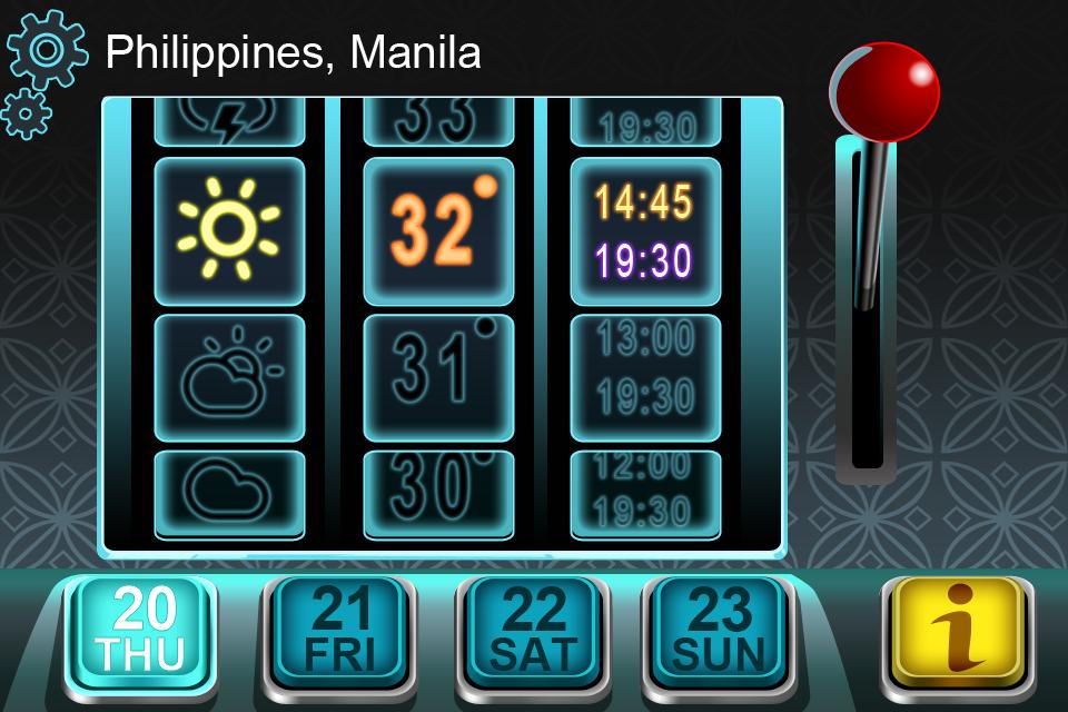 Weather slot machine