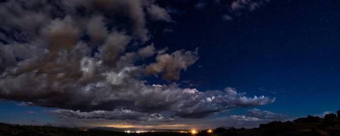 Super Wide Shot of the Night Sky